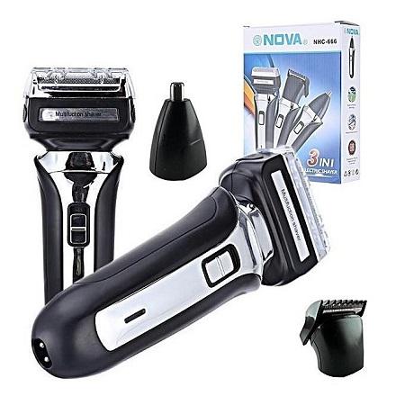 Nova 3 In 1 Electric Shaver Hair Trimmer Shaving Machine