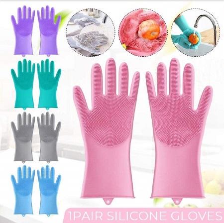 Reusable Silicone Scrubbing Gloves