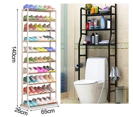 Buy 10 Tier Shoe Rack and Get  FREE Toilet Rack