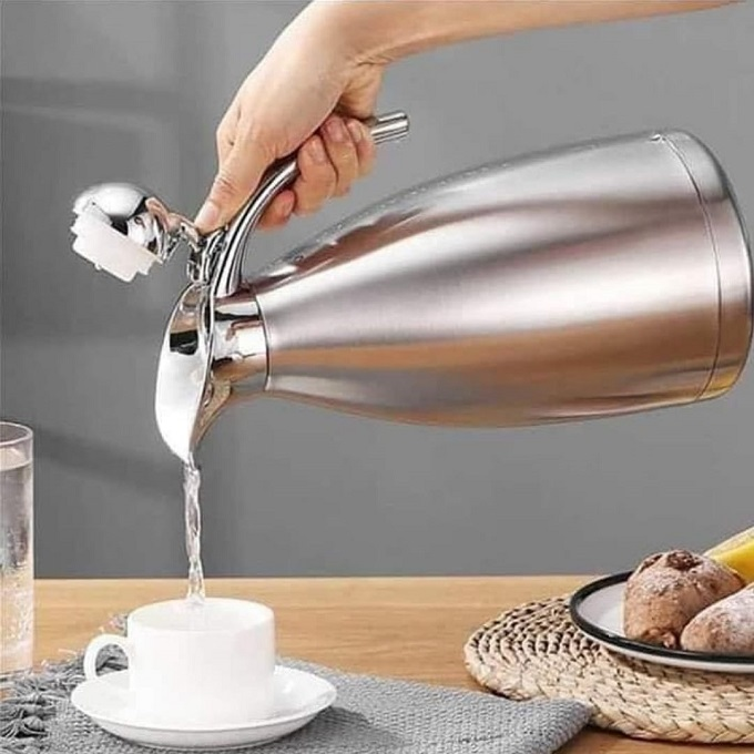 Stainless Steel 2.0 Litre Vacuum/Thermos Jug/Flask