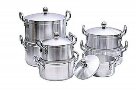 World Tornado Heavy Duty Aluminum Cookware 7 Pot Sufuria Set With 7 Lids