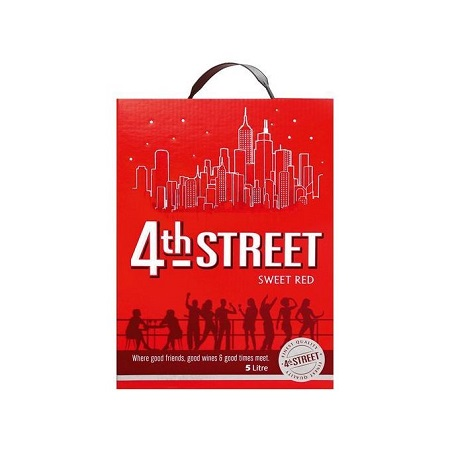 4th Street Natural Sweet red Wine - 5 Litres