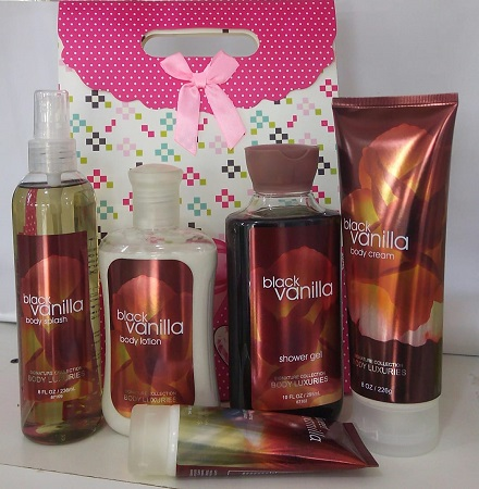 Signature Collection, Body luxuries Black Vanilla 5 in 1 Set