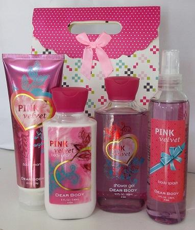 Dear Body Pink Velvet 4 in 1 Body Care Set