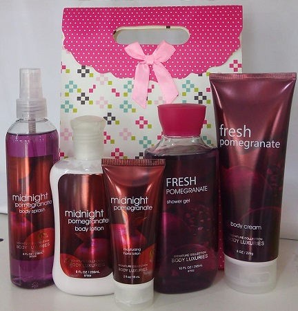 Signature Collection, Body Luxuries Midnight and Fresh Pomegranate 5 in 1 Set