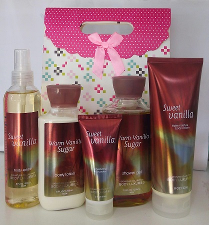 Signature Collection, Body Luxuries Sweet and Warm Vanilla 5 in 1 Set
