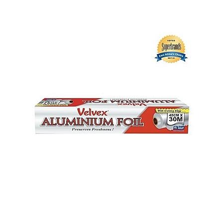 Velvex Aluminium Foil - 45cm x 30m