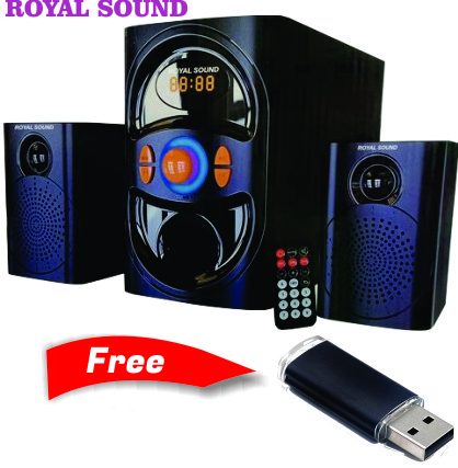 Royal Sound Subwoofer,Hitechmedia Bluetooth,USB,FM