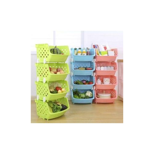 4 Tier Fruit/Vegetable Basket/Rack Plastic Fruit Storage