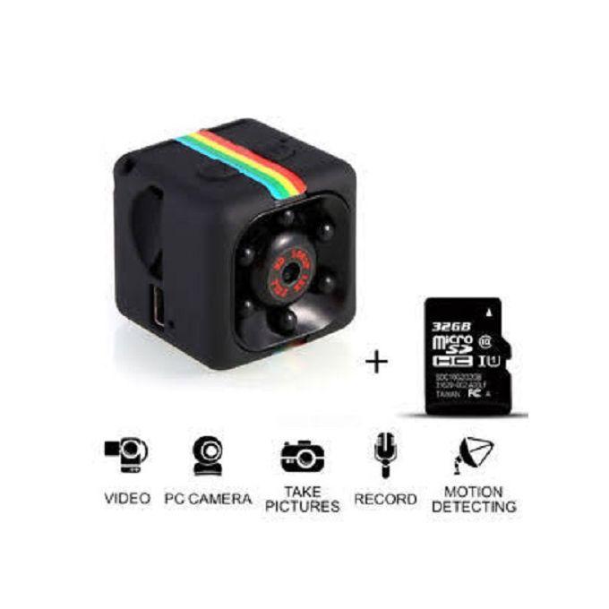 camera Mini Camera DV DVR Night Vision Monitor micro small camera Video Recorder Cop Pocket cam sq13 JUN(Blue)(Standard Cam)