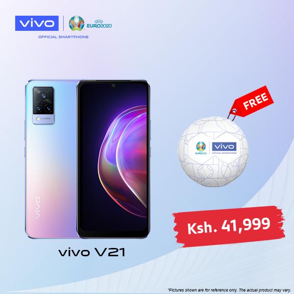 vivo v21-Dual SIM-8GB RAM- 128/256 GB ROM Get FREE UEFA EURO soccer ball