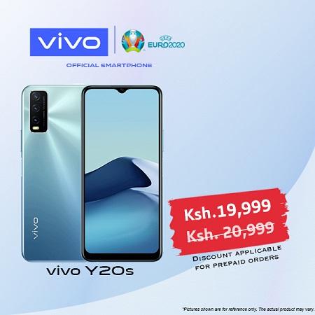 vivo Y20s - Dual SIM - 4GB RAM - 128GB ROM - Purist Blue