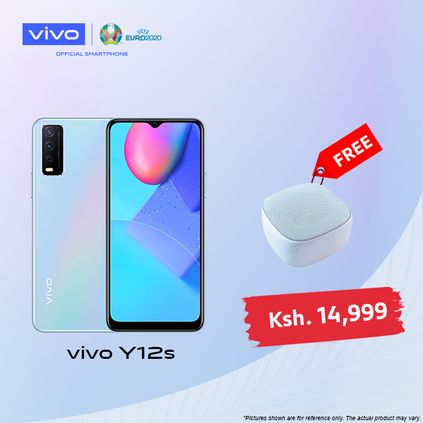 Vivo Y12s, 6.5 Inch, 32 GB + 3 GB RAM (Dual SIM) - Glacier Blue