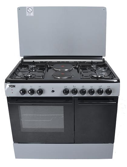 Von 8422SLV/VAC9S042CS 4 Gas + 2 Electric Cooker - Silver