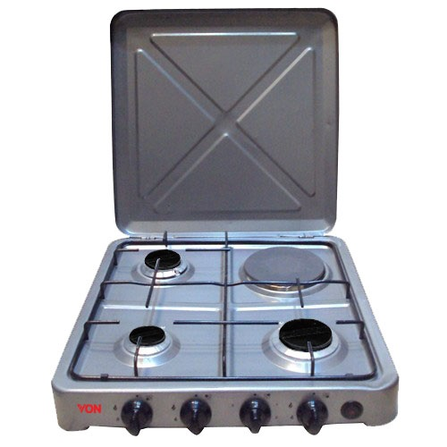 Von 0-431.S/ VAC4F300S 3 Gas 1 Electric Cooker - Silver