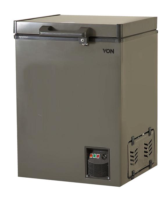 Von VAFC-12DUS Showcase Freezer - Grey