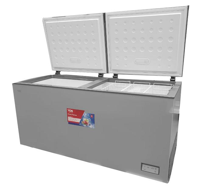 Von VAFC-50DHS Chest Freezers, 508L - Grey