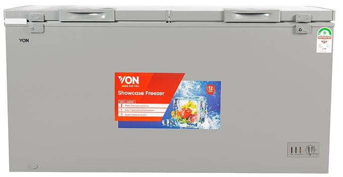Von VAFC-45DXS Chest Freezers, 445L - Grey