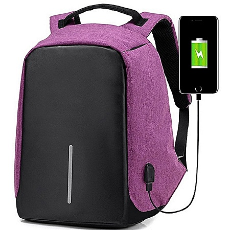Antitheft Laptop Bag - Purple