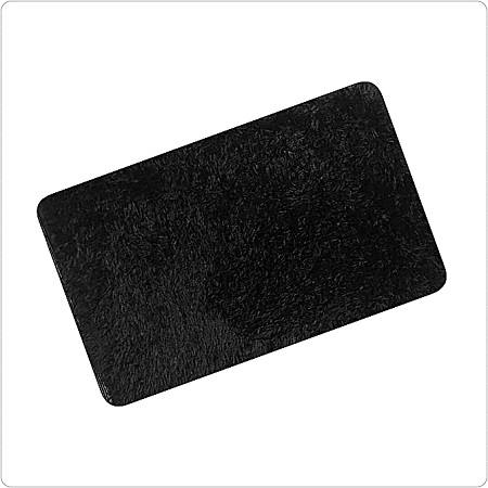 Elegant Anti Slip Fluffy Door Mat- Black