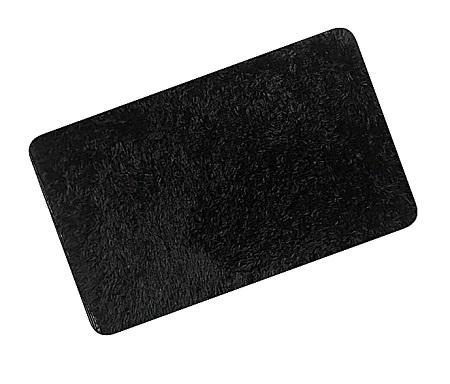 Elegant Fluffy Door Mat - Anti slip - Black