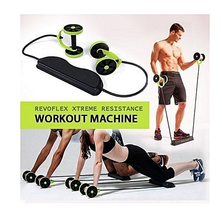 Revoflex Xtreme Home Gym Fitness Trainer- Green & black