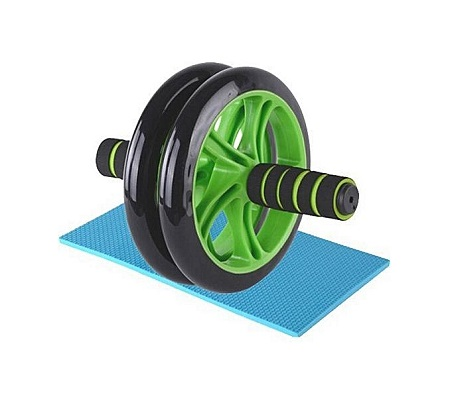 Abs Roller Workout Arm And Waist Fitness Exerciser Wheel- Black