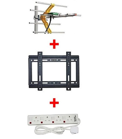 Phelistar Aerial + 14- 42 inch TV bracket + 4 way extension
