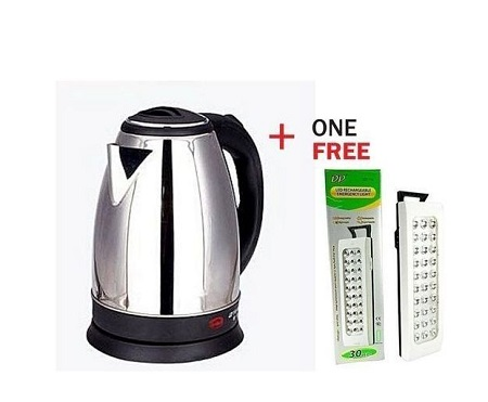 Scarlett Electric Kettle + Free Rechargable Lamp (DP-30)