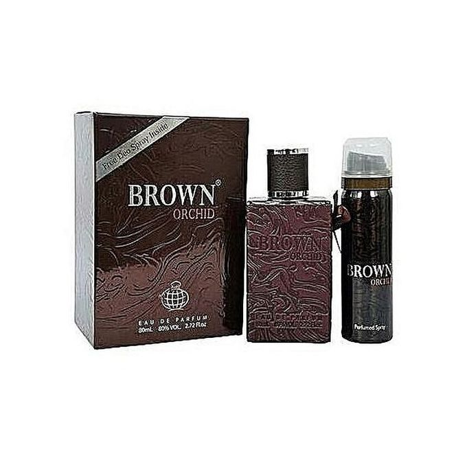 Brown Orchid Unisex Perfume EDP + Deo Spray