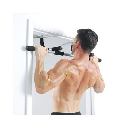 Iron Gym Premium Bar Door Gym Bar - Black