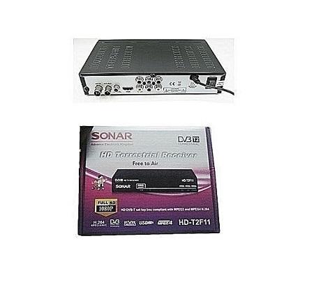 Sonar Free to Air Decoder HD Terrestrial- Black