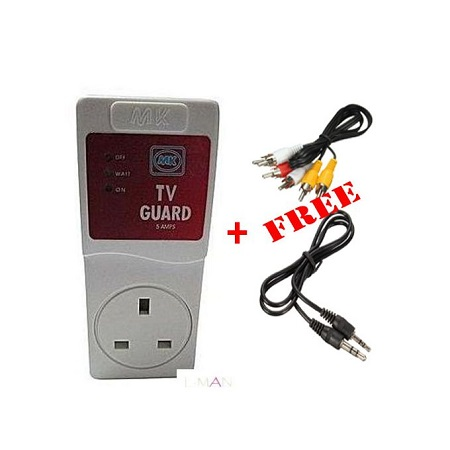 MK TV Guard + FREE AUX, Jack to Jack + RCA Cable