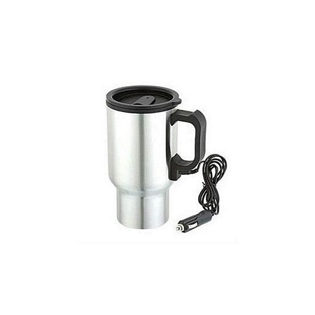 DC 12V Stainless Steel Car Electric Kettle Heated Mug Heating Cup with Cigarette Lighter Charger