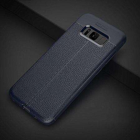 SAMSUNG Galaxy S8+ Shock Proof Carbon Fiber Rugged Armor Soft Back Case